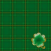 Tartan background to St. Patrick's Day — Stock Vector