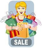 Happy woman on sale — ストックベクタ