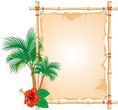 Bamboo Frame — Stock Vector