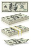 Satz von dollar-banknoten — Stockvektor