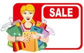 Happy woman on sale — Stock Vector