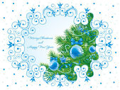 Beautiful ornate Christmas background — Stock Vector