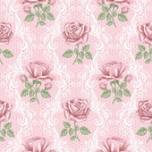Retro flower seamless pattern - roses — Stock Vector
