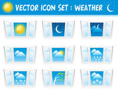 Set weather icons — Stock Vector