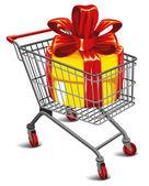购物车 (有很棒的礼物 — 图库矢量图片