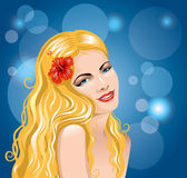 Pretty young woman — Stock Vector