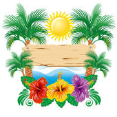 Tropical label — Stock Vector
