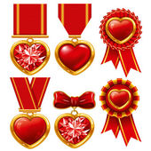 Medal heart — Stock Vector