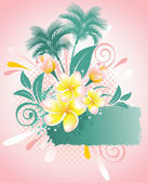 Background with flower plumeria — Stock Vector