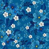 Seamless pattern with forget-me-not — Stock Vector