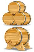 Wine barrel — Stock Vector