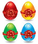 Set of ornate Easter eggs — Stock Vector