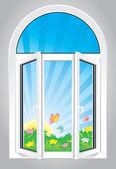 Öppna fönstret — Stockvektor