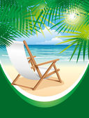 Beach Chair — Stock Vector
