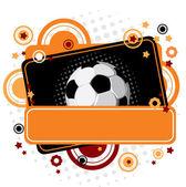 Festive Soccer background — Stock Vector
