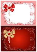 Achtergrond op de dag van valentijnskaarten — Stockvector