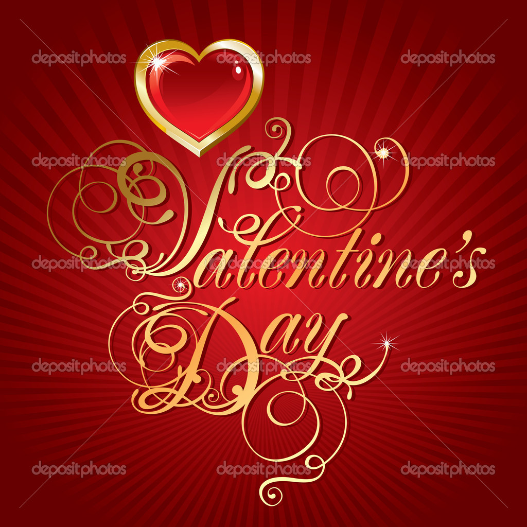 Beautiful vector background on Valentine's Day with golden hearts — Stock Vector #16786363