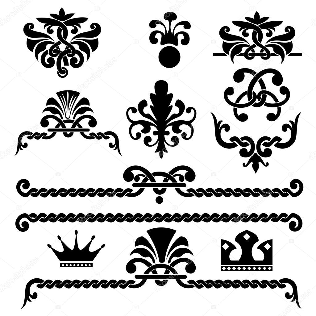 gothic design elements stock vector pazhyna 16786527