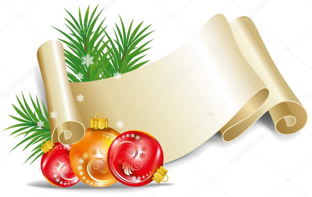 alte schriftrolle f r weihnachten einladung stockvektor. Black Bedroom Furniture Sets. Home Design Ideas