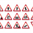 Traffic signs collection - Stock Vector