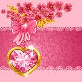 şirin sevgililer günü kartı — Stok Vektör