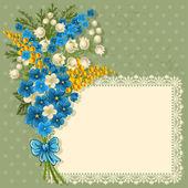 Lindo cartão de felicitações — Vetorial Stock