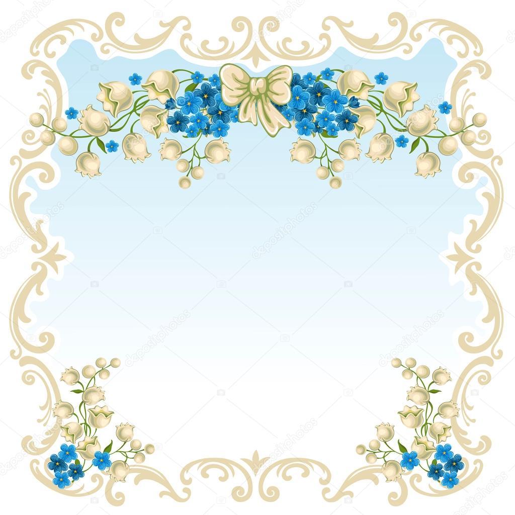 春天的鲜花花纹 边框