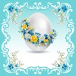 Vintage Easter card - Stock Vector