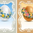 Vintage Easter cards - Stock Vector