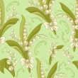 Lilies of the valley. Seamless background. — Stok Vektör