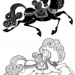 Fabulous horse — Stock Vector