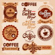 Coffee labels — Stockvectorbeeld