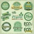 Organic labels — Vettoriali Stock