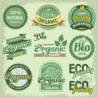 Organic labels — Stock Vector