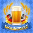 Oktoberfest background — Stock Vector