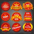 Sale labels — Stock Vector #29990317