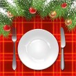 Christmas menu template — Stock Vector