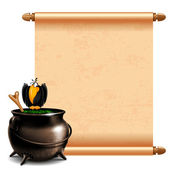 Cauldron with potion — Stock Vector