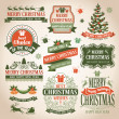Christmas collection — Vector de stock