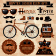 Stock Vector: Hipster set