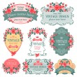 Vintage labels — Vector de stock #32764907