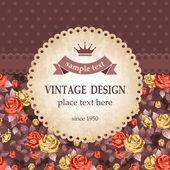 Vintage design — Stockvektor