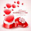 Background for Valentine's Day — Vector de stock