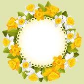 Wreath of spring flowers — Wektor stockowy