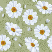 Floral seamless pattern - daisy — Stock Vector