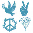Set of peace symbols — Stock Vector