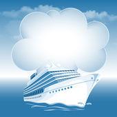 Yolcu yolcu gemisi — Stok Vektör