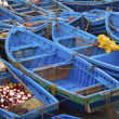 Blue fishing boats — Stock Photo #49596367