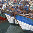 Blue fishing boats — Stock Photo #49596389
