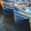 Blue fishing boats — Stock Photo #49596859